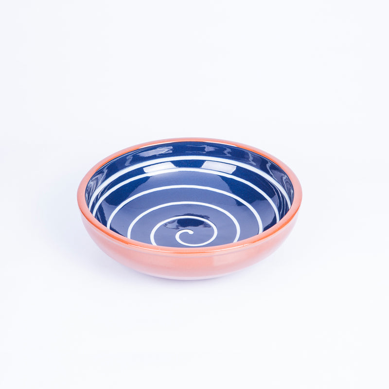 Small Salad/Tapas/Pasta Bowl 17cm - Spiral Blue