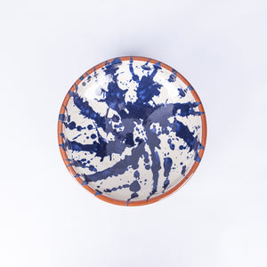 Medium Pasta Bowl 20cm - Blue Splatter