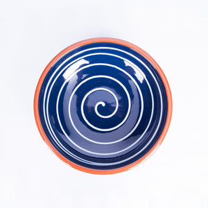 Medium Pasta Bowl 20cm - Spiral Blue
