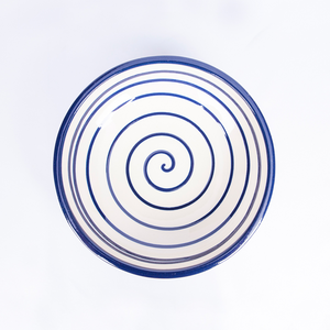 Medium Pasta Bowl 20cm - Spiral White