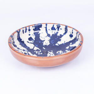 Large Salad/Pasta/Serving bowl 25cm - Blue Splatter
