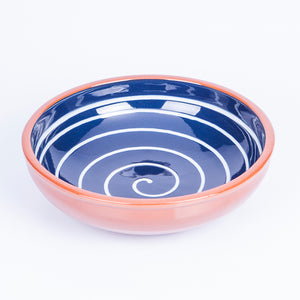 Large Salad/Pasta/Serving Bowl 25cm - Spiral Blue