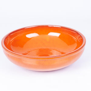 Large Salad/Pasta/Serving Bowl 25cm - Orange Terracotta