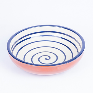 Large Salad/Pasta/Serving Bowl 25cm - Spiral White