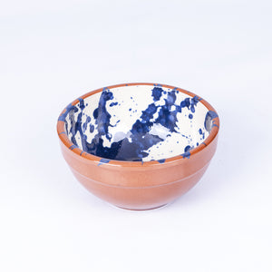 Small Tapas/Breakfast bowl 13cm - Blue Splatter