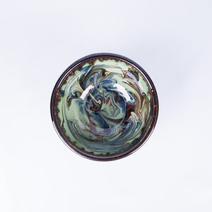 Small Tapas/Breakfast Bowl 13cm - Waters in Green