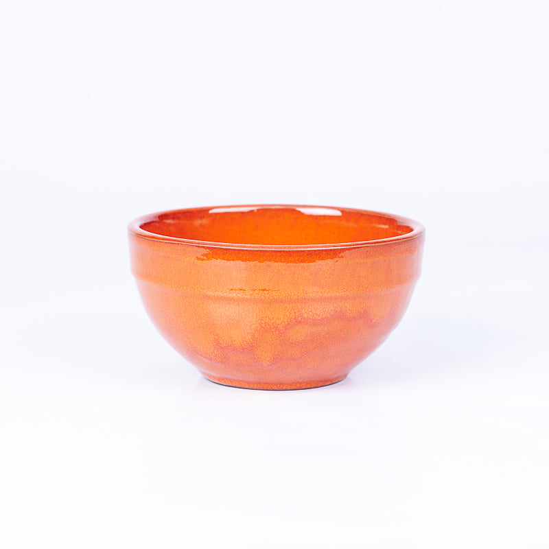 Small Tapas/Breakfast Bowl 13cm - Orange Terracotta
