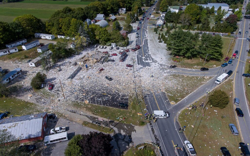 Gas Explosion Kills 1 Firefighter, Injures 7 In Farmington Maine