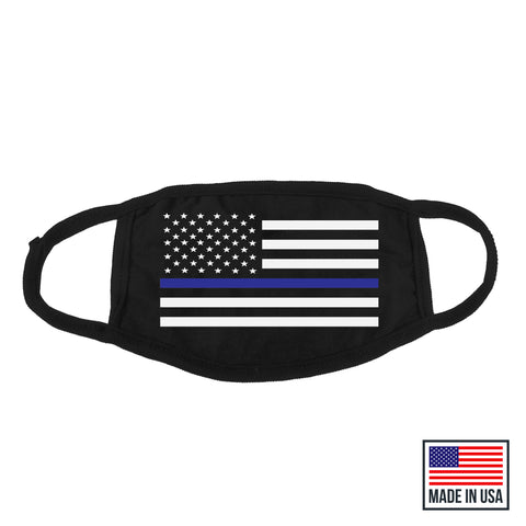 Thin Blue Line Mask - MADE IN USA