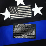 "USA FLAG METAL MIRANDA CARD WITH ""BLESSED ARE THE PEACEMAKERS"" QUOTE"