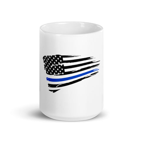 Thin Blue Line Flag Coffee Mug