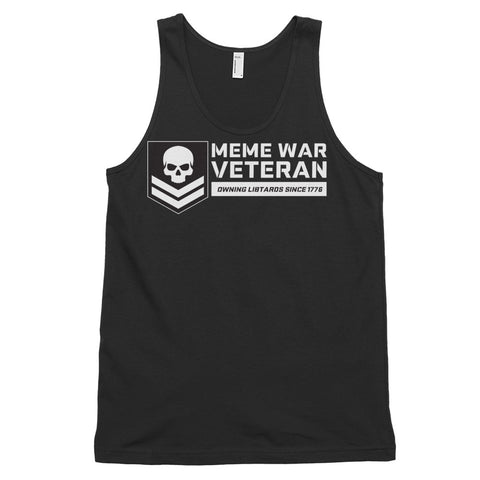 Meme War Veteran tank top