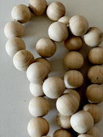 WOODEN BALL GARLAND