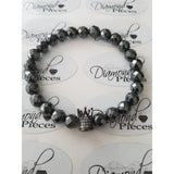 Crown of Life - Hematite Bracelet