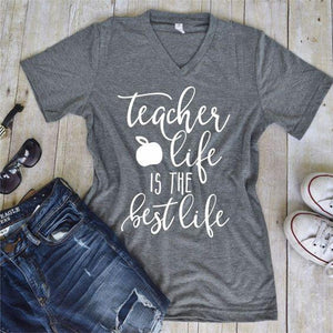 Teacher Life is The Best Life Graphic Tee