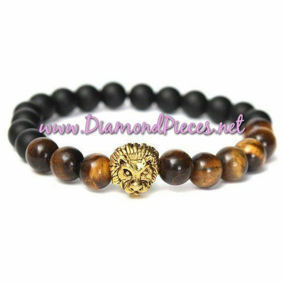 Courage and Boldness Gemstone Bracelet - Tiger's Eye Beads