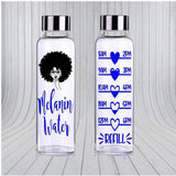 Melanin Water - Motivational Water Bottle