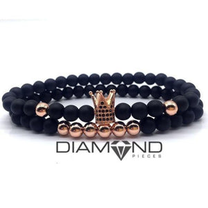 Black & Rose Gold Crown Set
