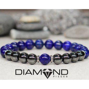 Blue & Gun Metal Bracelet Set