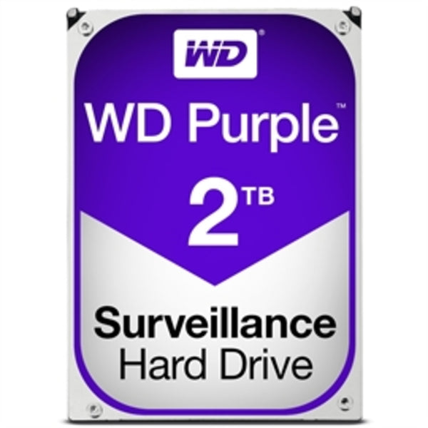 "Western Digital Hard Drive WD20PURZ WD Purple AV 3.5"" 2TB 64MB SATA 6Gb/s 5400 RPM Bulk"