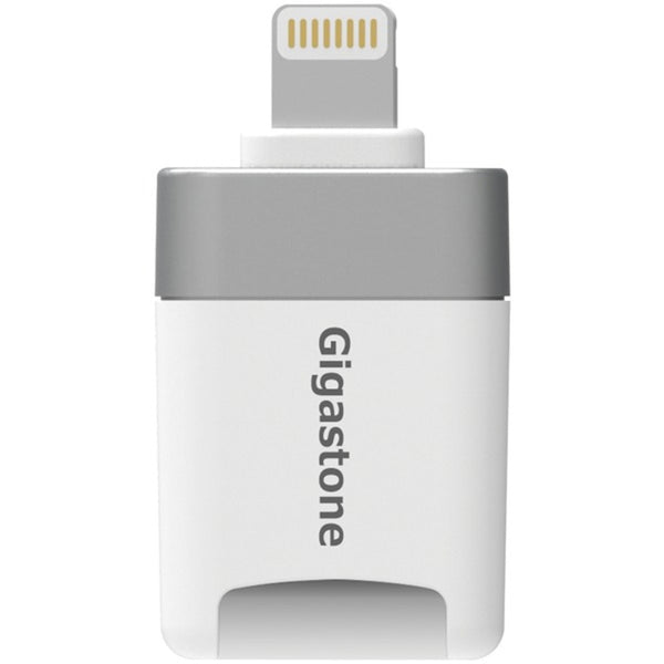 Gigastone GS-CR8600W-32GB-R i-FlashDrive microSD Card Reader for iPad and iPhone