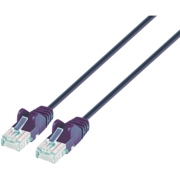 Intellinet Network Solutions 742139 Blue CAT-6 UTP Slim Network Patch Cable with Snagless Boots (1.5 Feet)