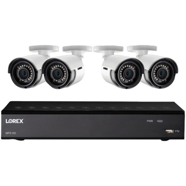 Lorex LHA21081TC4LC 1080p HD Security Camera System with 1 Terabyte 8-Channel DVR and Four 1080p Bullet Cameras