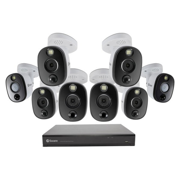 Swann SWDVK-1655808WL-US 4K Surveillance System Kit with 16-Channel 2 TB DVR and Eight 4K Cameras