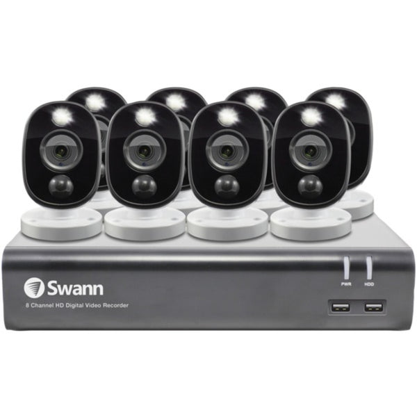 Swann SWDVK-845808WL-US 1080p Full HD Surveillance System Kit with 8-Channel 1 TB DVR and Eight 1080p Cameras