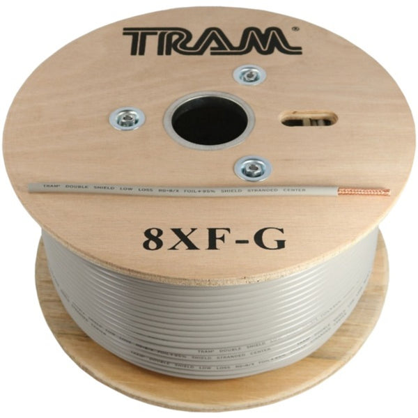 Tram 8XF-G RG8X 500ft Roll Tramflex Double Shield Coaxial Cable with Gray Jacket