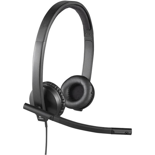 Logitech USB Headset Stereo H570e - Stereo - USB - Wired - 31.50 Hz - 20 kHz - Over-the-head - Binaural - Supra-aural - Noise Cancelling, Electret Microphone