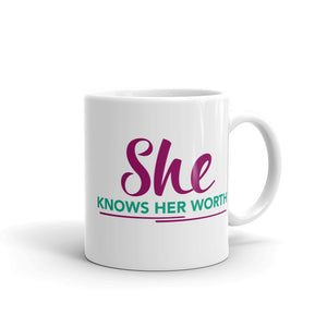 She Knows Her Worth Mug
