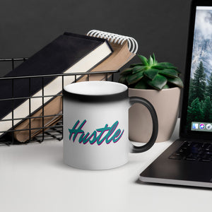 Hustle - Matte Black Magic Mug