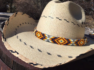 Custom Beaded Diamond Cowboy Hat band