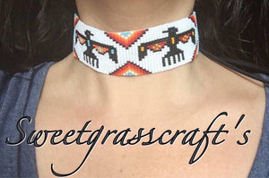 Beaded Choker or Armband- Thunderbird