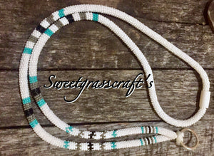 safety landyard break away lanyard breakaway beaded lanyard, native american beadwork lanyard unisex lanyard beadwork