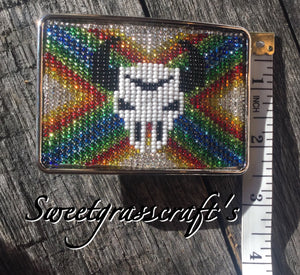 Unisex Beaded Belt Buckle