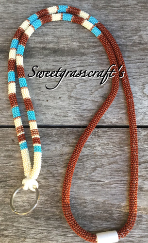 beaded safety lanyard