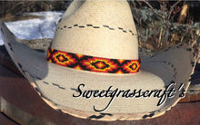 Black unisex beaded hatband