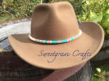 Copper round beaded hat band or beaded rope necklace