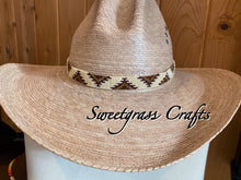 southwestern beaded cream cowboy hat band