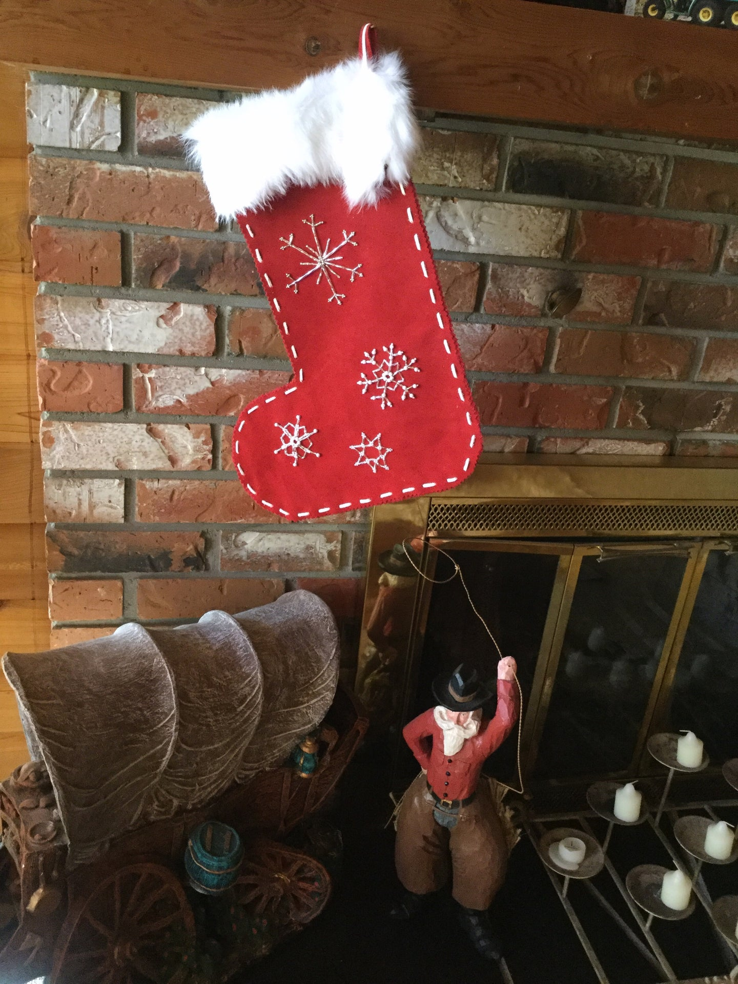 beaded leather christmad stocking