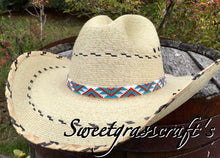 native american beaded cowboy hatband