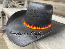 Beaded fire hat band- going thru hell hatband