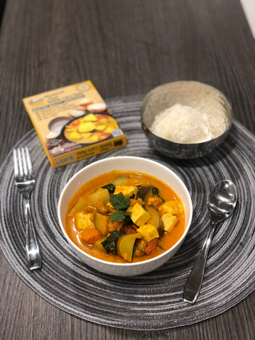 Yellow curry with rice