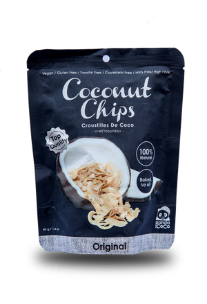 Panda Coco Original Flavor Toasted Coconut Chips - Thai Roots Market