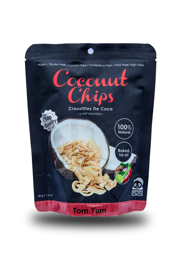 Panda Coco Tom Yum Flavor Coconut chips - Thai Roots Market