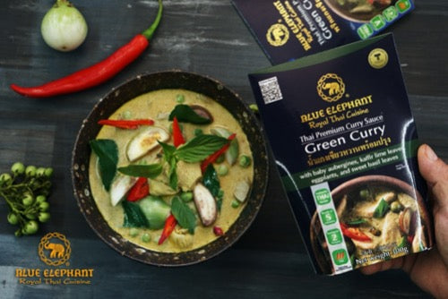 Blue Elephant Green Curry Paste Curry Sachets - Thai Roots Market