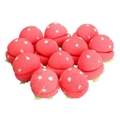Strawberry Foam Ball Hair Curlers