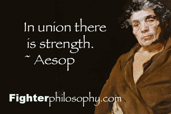 In union, there is strength. - Aesop